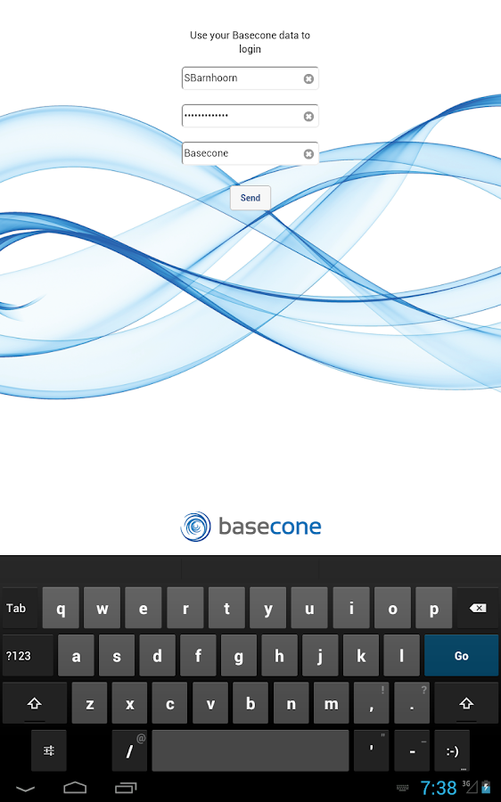 Basecone App- screenshot