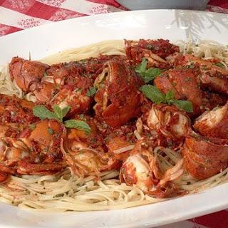 Linda's Spicy Lobster Linguine.
