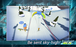 Screenshot of Snowboard Run