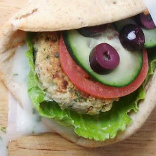 """Vegan Falafel Wraps with Dairy-Free """"Yogurt"""" Sauce."""