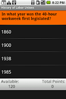 Screenshot of History of Labor Unions