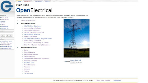 Open Electrical Webser