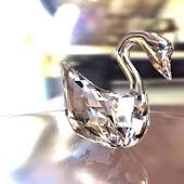 Crystal Swan & Clock__