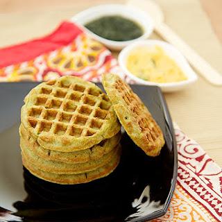 Green Gram Waffles
