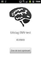 Screenshot of EMV Score