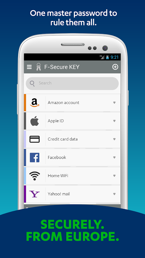 F-Secure KEY-Password Manager - screenshot