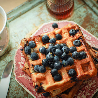 Blueberry and Cinnamon Waffles Recipe