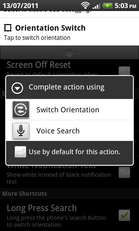 Orientation Control - screenshot