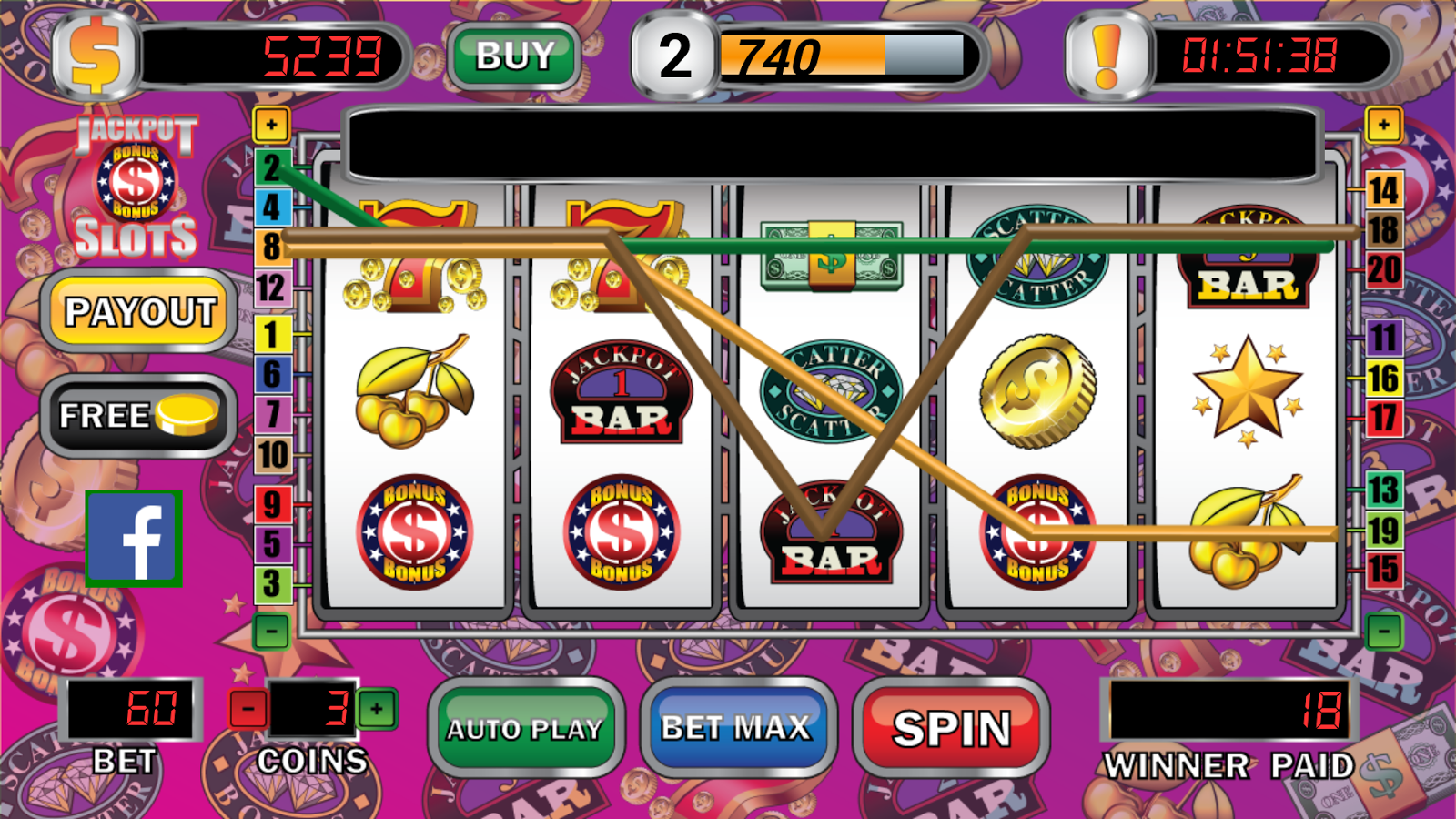 free slot machines 20 lines