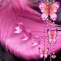 Butterfly n Pink Feather logo