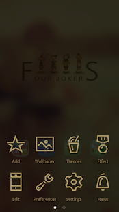 Four Jokers GO Launcher Theme- screenshot thumbnail