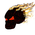 Burning Skull Wallpaper logo