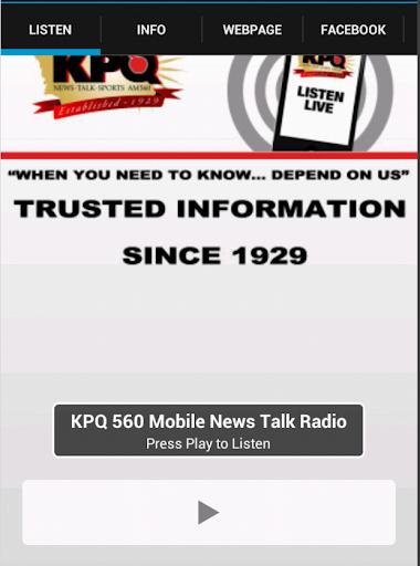 KPQ 560 Mobile News Talk Radio