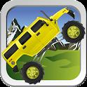 Monster truck hill racer icon