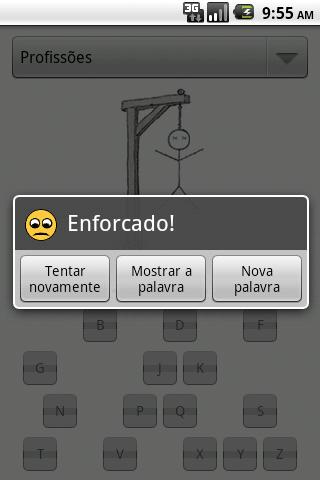 Forca - screenshot