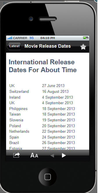 Movie Release Dates World - screenshot