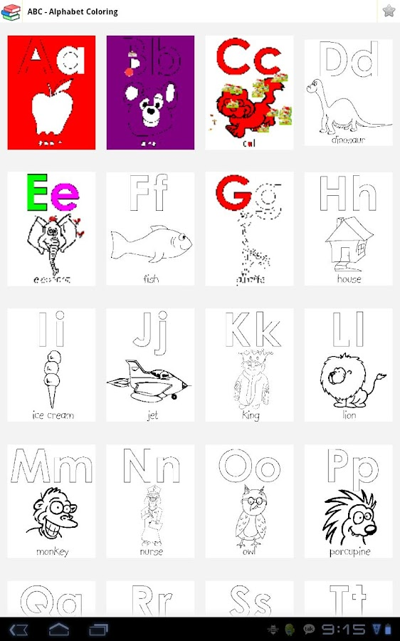Kid Coloring - Abc, Number- screenshot