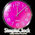 シンプルなアナログ時計ウィジェット【ピンク】 icon