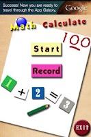 Screenshot of simple math game
