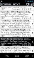 Screenshot of Oakland Football News