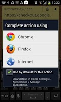 Screenshot of Clear default app for action