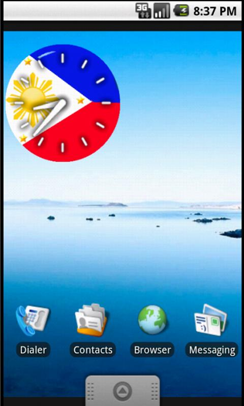 Pinoy Clock Widget free- screenshot