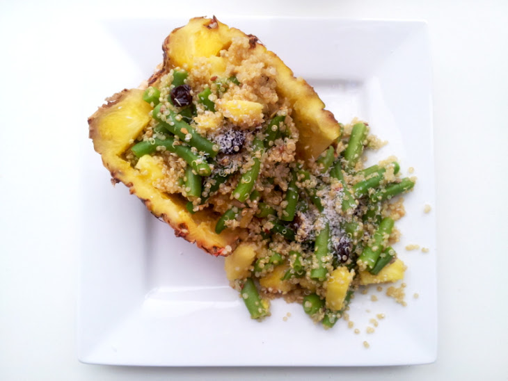 Tropical Quinoa Stuffed Pineapple Recipe