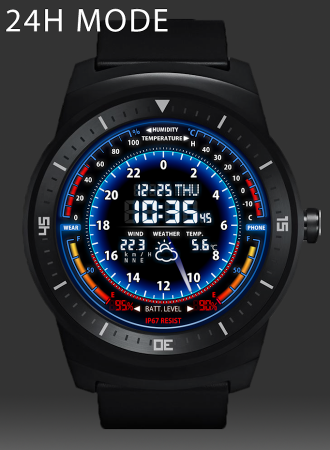 V05 WatchFace for Android Wear- screenshot