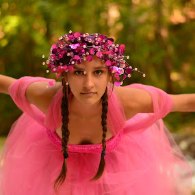 Fairy by Kine Akasi - People Portraits of Women ( girl, forest, fairytale )
