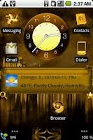 Screenshot of GoldIce-Open Home skin