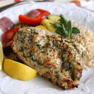 Lemon-Garlic Herb Rubbed Chicken.