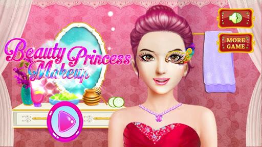 美麗的公主遊戲的女孩