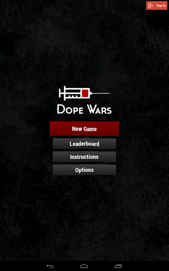 Dope Wars Classic- screenshot
