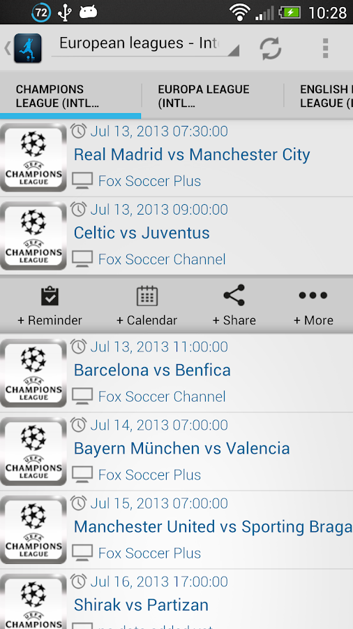 Live Football On TV - screenshot