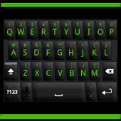 Black and Green Keyboard Skin