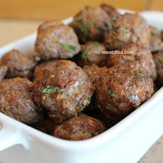 Thai Mini Meatballs.