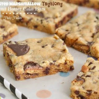 Toasted Marshmallow Tagalong Peanut Butter Cake Bars.