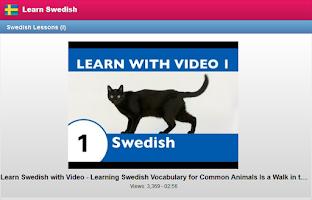 Screenshot of Learn Swedish Free