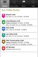 Screenshot of Sun Trolley Tracker