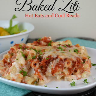 Baked Ziti Recipe with Homemade Sauce and a review for Pomi Tomatoes.