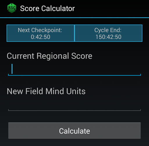 Ingress Regional Score Calc