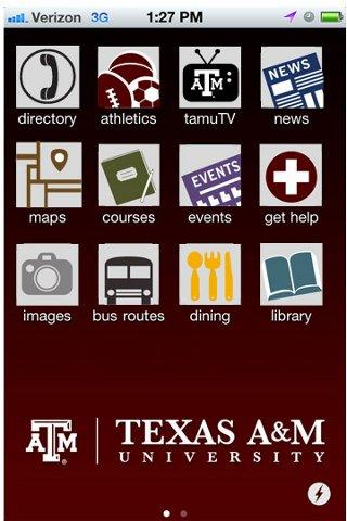 Texas A&M University - screenshot
