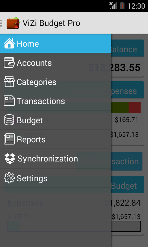 ViZi Budget - screenshot