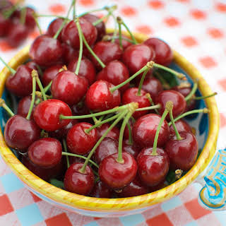 Fresh Picked Cherries with Limoncello.