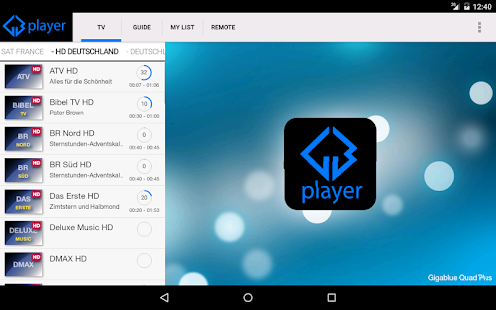 Gigablue Player- screenshot thumbnail