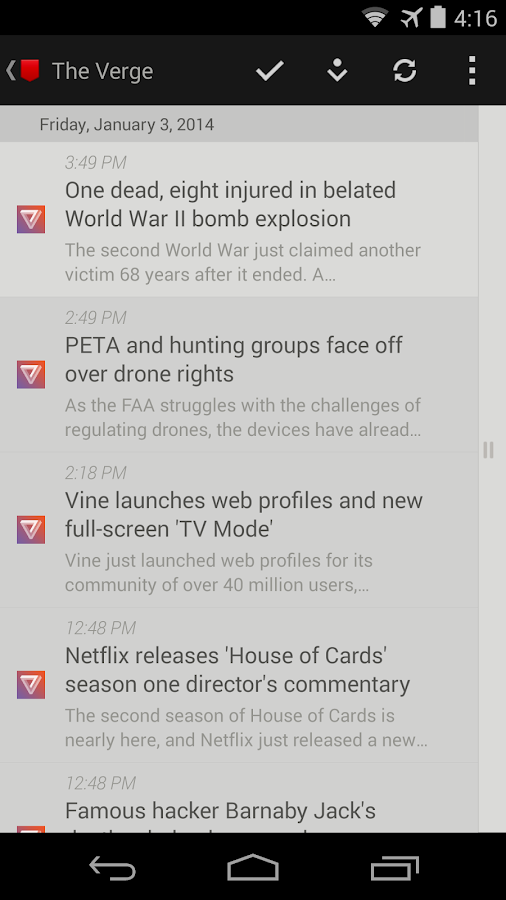 Press (RSS Reader)- screenshot