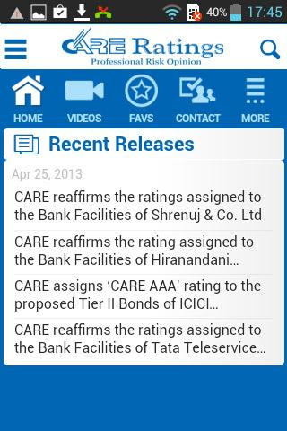 CARE Ratings- screenshot