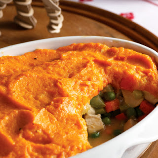 Gluten-Free Chicken Potpie with Sweet Potato Topping