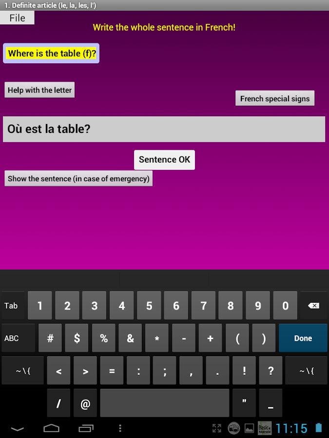 French Grammar Exercises F - Aplicaciones Android en Google Play