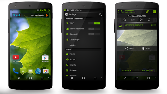 Green Fire Theme CM11/AOSP/PA v4.00